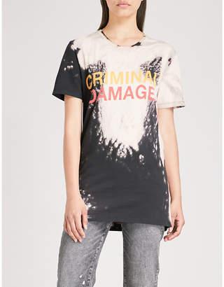 Criminal Damage Bleach cotton-jersey T-shirt
