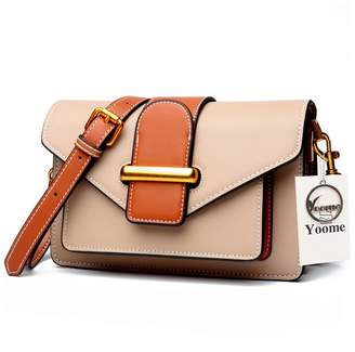 4d1d30cf50a6 Yoome Ladies Designer Purses Cross Body Handbags Cowhide Leather Trendy Bags  for Women Shoulder Bags
