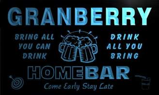 AdvPro Name q17533-b GRANBERRY Family Name Home Bar Beer Mug Cheers Neon Light Sign