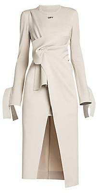 Off-White Women's Wrapped Vented Shirtdress