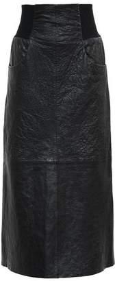 KITX Cinch Rib Leather Midi Skirt
