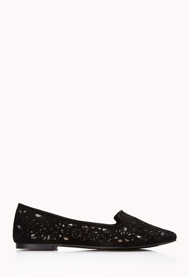 Forever 21 Luxe Lasercut Loafers
