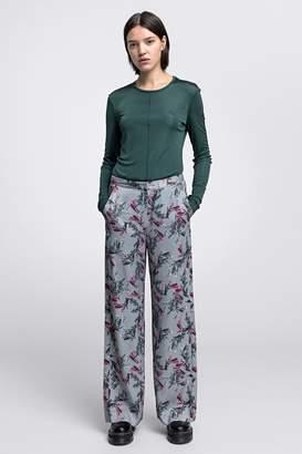 Dagmar Vienna Shiny Viscose Trousers Flower Print
