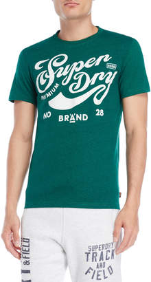 Superdry Green Brand A Graphic Tee