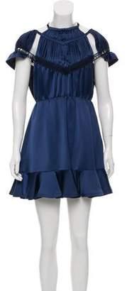 Self-Portrait Satin Mini Dress