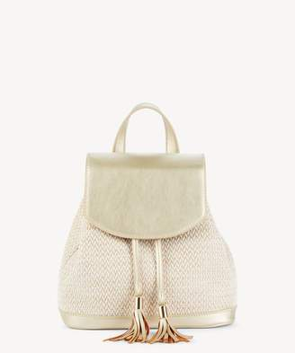 Sole Society Suki Shoulder Fabric Backpack w/ Tassel Detail