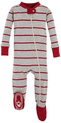 Burt's Bees Gingerbread Stripe Organic Baby Family Matching Zip Up Footed Pajamas