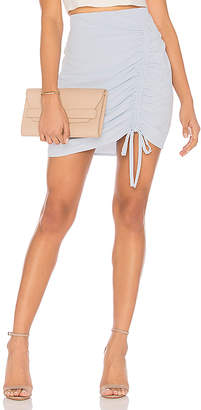 J.o.a. Ruched Front Mini Skirt