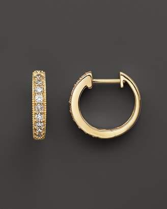 Bloomingdale's Diamond Bezel Set Huggie Hoop Earrings in 14K Yellow Gold, .30 ct. t.w.
