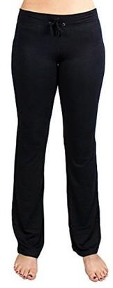 Crown Sporting Goods Soft & Comfy Yoga Pants, 95% Cotton/5% Spandex, Black M