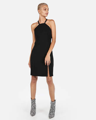 Express High Neck O-Ring Sheath Dress