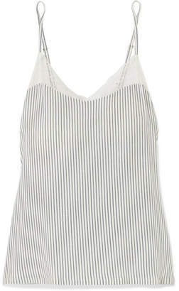 Eberjey The Dreamer Lace-trimmed Striped Stretch-modal Camisole