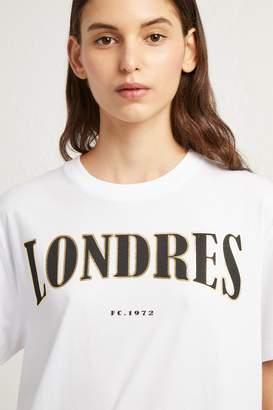 French Connenction Londres Foil Slogan T-Shirt