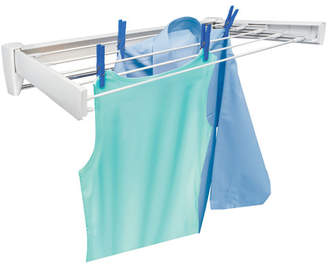 Leifheit Telegant 70 Retractable Wall Mount Clothes Drying Rack with Towel Bar