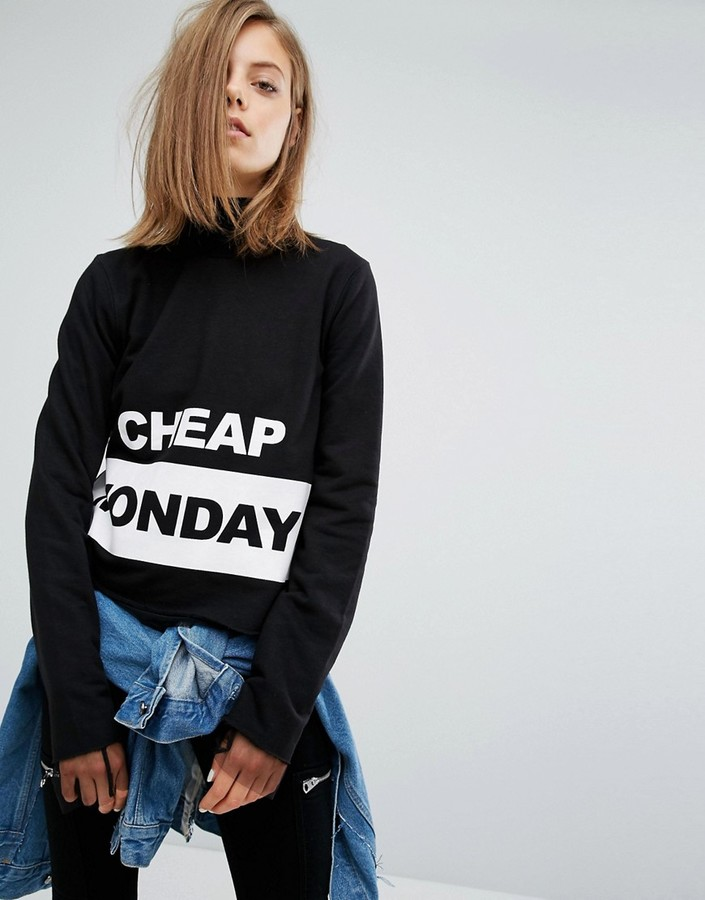Cheap Monday Cheap Monday Block Logo Sweatshirt