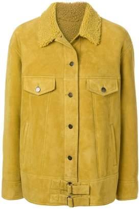 Yves Salomon Meteo boxy button jacket