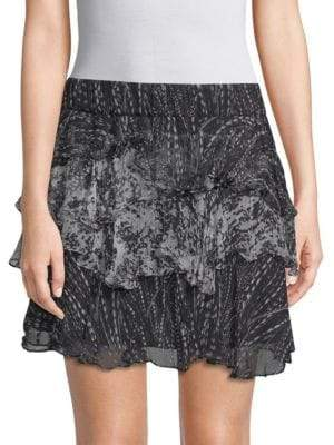 IRO Loey Tiered Ruffle Skirt