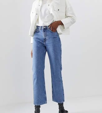 Weekday row slim straight jeans in sky blue