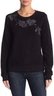 Lucky Brand Floral Fleece Pullover