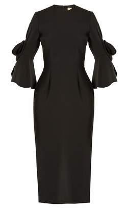 Roksanda Lavete bow-sleeved crepe dress
