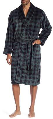 14th & Union Patterned Plush Robe