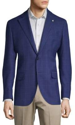 Lubiam Windowpane Wool Jacket