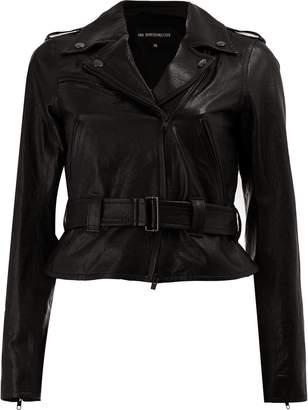 Ann Demeulemeester biker style jacket
