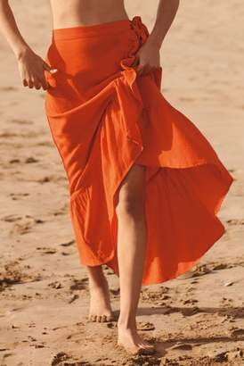 Next Womens Orange Wrap Skirt