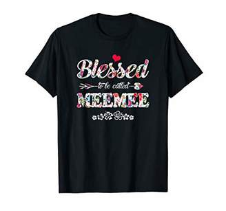 Blessed To Be Called Meemee Flower T-Shirt