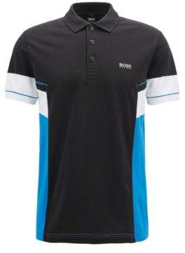 BOSS Hugo Colorblock polo shirt in Pima cotton L Black