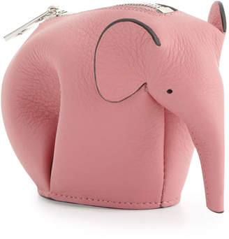 Loewe Elephant Leather Coin Case, Pink