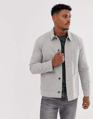 Asos Design DESIGN worker jacket in light gray