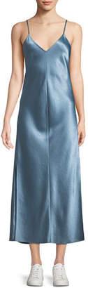 Theory V-Neck Midi Slip Dress