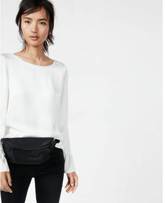 Express Flare Sleeve Blouse $49.90 thestylecure.com
