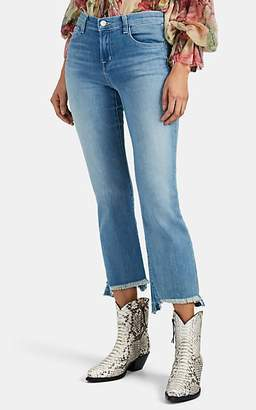 J Brand Women's Selena Mid-Rise Boot-Cut Crop Jeans - Blue