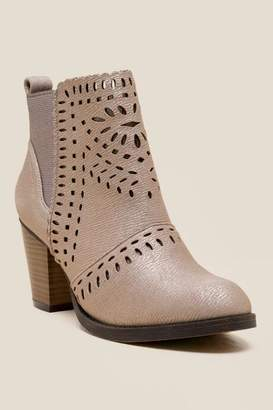 Rampage Echer Metallic Ankle Boot - Gold