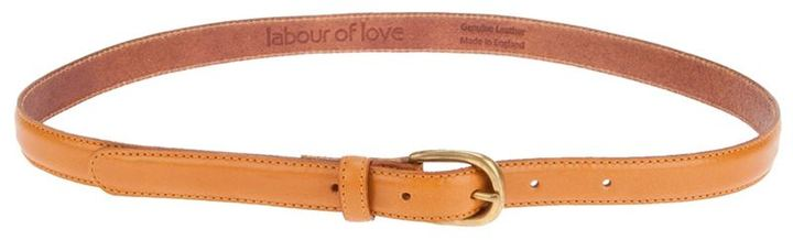 Labour Of Love tan leather skinny belt