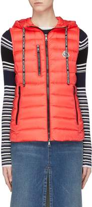 Moncler 'Sucrette' hooded down puffer vest