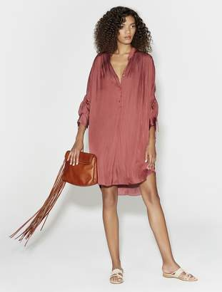 Halston Ruched Shirt Dress