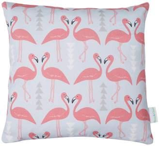 Rosa & Clara Designs - Mini Flamingo Flourish Cushion Ice Blue