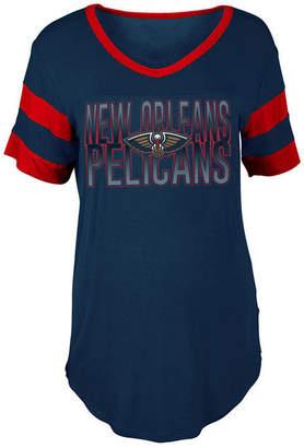 5th & Ocean Women's New Orleans Pelicans Hang Time Glitter T-Shirt