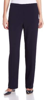 Briggs New York Women's Pull-On Pant with Slimming Solution