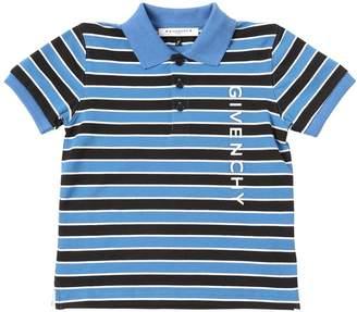 Givenchy Striped Cotton Piqué Polo Shirt