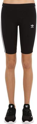 adidas Fitted Cotton Blend Cycling Shorts
