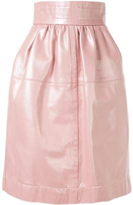 Marc Jacobs leather lamb skin skirt