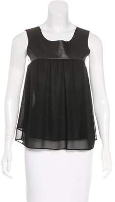 Patterson J. Kincaid PJK Leather-Accented Sleeveless Top