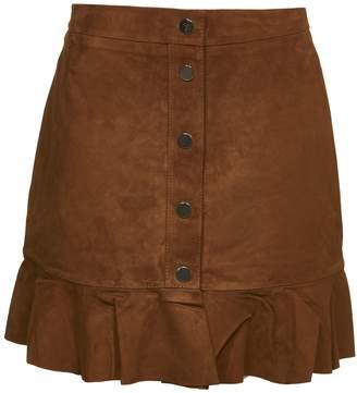 Ganni Buttoned Mini Skirt