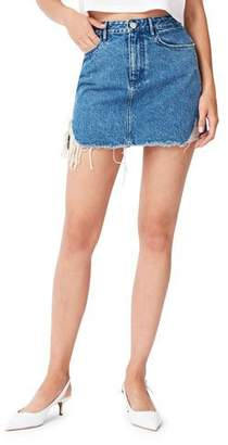 3x1 Celine Distressed Denim Mini Skirt