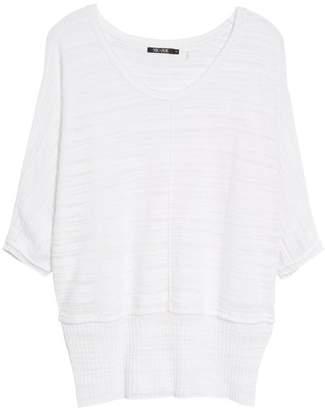 Nic+Zoe Open Breeze Linen Cotton Blend Sweater