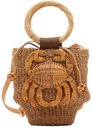 Aranaz Malia straw bucket bag